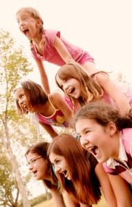 Girls in Human Pyramid