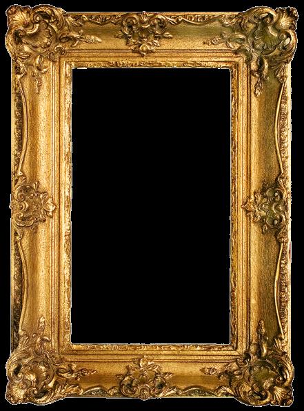 Vintage gilded gold fancy frame free printable (3)